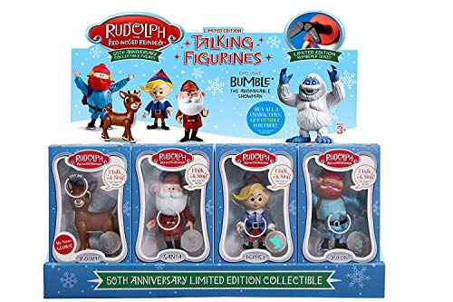 Figurine Character (Rudolph the Red-Nosed Reindeer 50th Anniversary Limited Edition Collectible- Set of 4)
