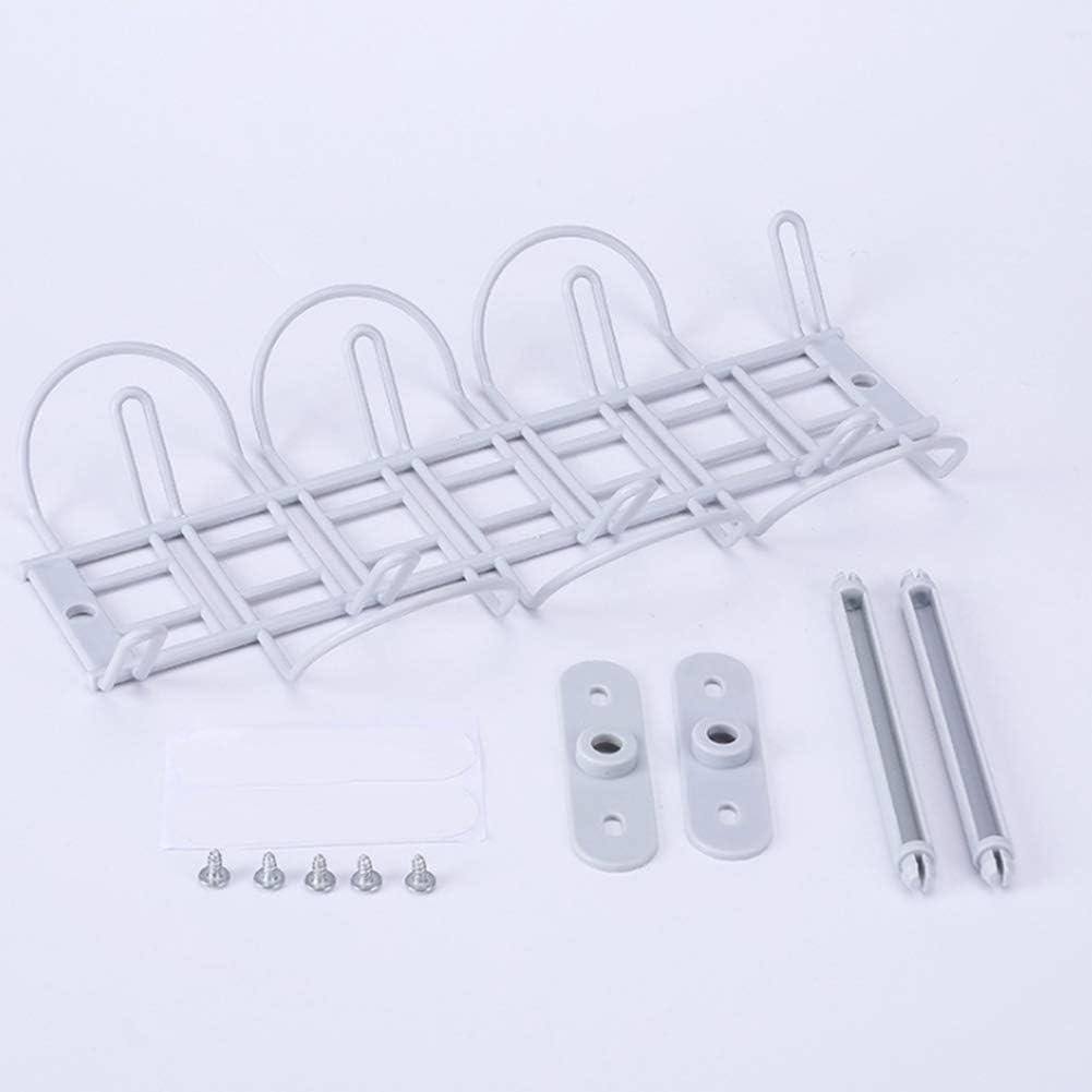 plateau de gestion des c/âbles pour bureau blanc Panier de rangement pour c/âbles sous le bureau cuisine auto-adh/ésif avec panier suspendu