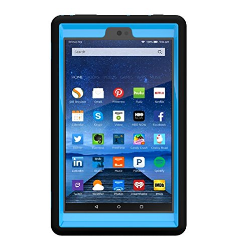 Solobay CASE Amazon Fire HD8 2016 Rugged Case Kickstand Tablet Case Heavy Duty Dual Layer Tough Case 2 in 1 tablect pc case Rubber Child Proof Tablet Case FOR Amazon Fire HD8