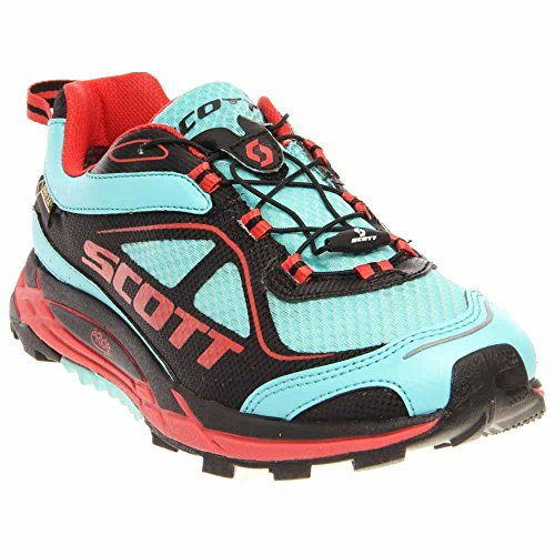 SCOTT Running eRide Nakoa Trail GTX-Womens, Blue/Red, 9.5 C US