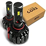 #1: OPT7 Fluxbeam Core 9006 LED Headlight Kit Bulbs - 60w 6,000LM 6K Cool White CREE - 1 Year Warranty