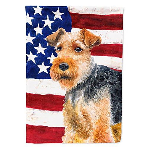 Welsh Terrier - Caroline's Treasures BB9700GF Welsh Terrier Patriotic Decorative Outdoor Flag, Garden Size Multicolor
