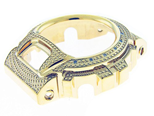 Used, Stainless Steel Bezel Gold Tone with 15 Diamonds for for sale  Delivered anywhere in USA