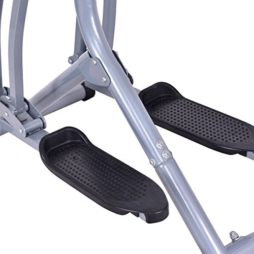 Goplus Air Walker Glider Stride Elliptical Trainer Fitness Exercise Step Machine Workout Equipment W/ Computer