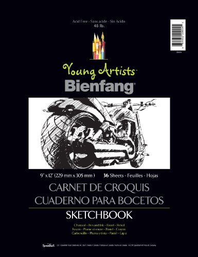 Hunt Young Artists Sketchbook, 36 Sheets, 9-Inch by 12-Inch