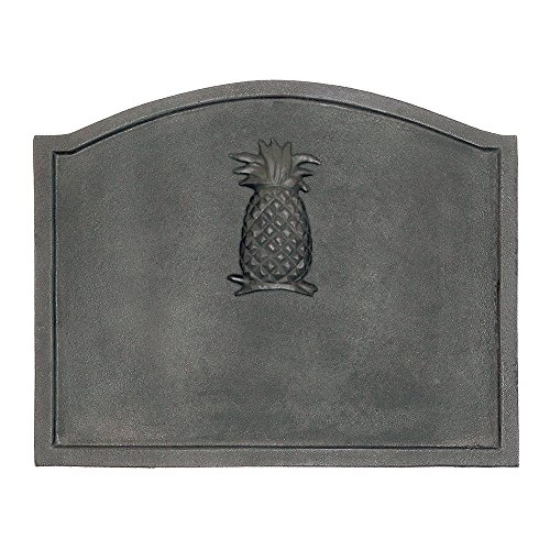 Minuteman International Pineapple Cast Iron Fireback, Large Minuteman Fireback
