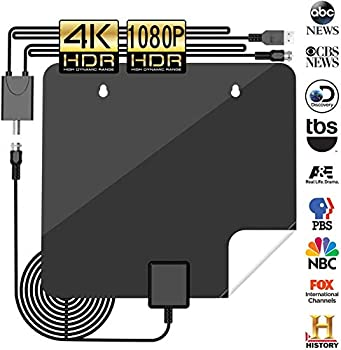 KingKKong Amplified 120+Miles Indoor HDTV Antenna