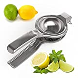 Lemon Squeezer by Kitchen Frontier - Premium Large Size Bowl - Suitable For Both Lemons and Lime Citrus Fruits - High Quality, Durable Stainless Steel Metal - Extractor Is Easy to Use and Will NOT Break! - Perform Effortless Juicing All the Time! - This P