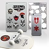 Controller Gear Halo Wars 2 - 7''x11'' Emblem Decal Skin Pack - Officially Licensed - Xbox One