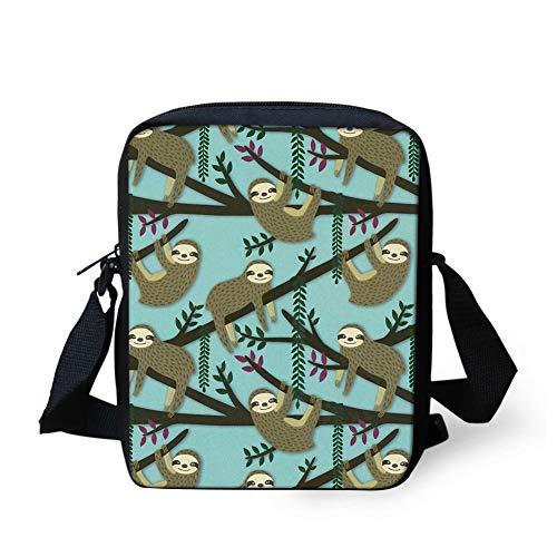 - HUGS IDEA Sloth Women's Crossbody Bag Cute SmallShoulder Handbag Cellphone Pouch for Girls