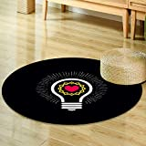 Round Rug Kid Carpet logo church christian symbols lamp and crown of thorns  Home Decor Foor Carpe -Round 59''