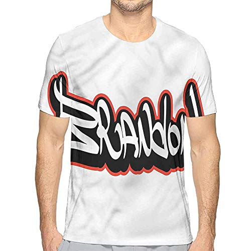 Jinguizi Mens t Shirt Brandon,Urban Hip hop Culture HD Print t Shirt L ()
