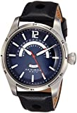 Akribos XXIV Men's AK850BU Round Navy Dial Three Hand Quartz Stainless Steel Strap Watch