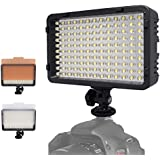 Mcoplus 130 LED Dimmable Ultra High Power Panel Digital Camera / Camcorder Video Light, LED Light for Canon, Nikon, Pentax, Panasonic,SONY, Samsung and Olympus Digital SLR Cameras