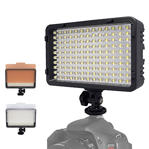 Mcoplus 130 LED Dimmable Ultra High Power Panel Digital Camera/Camcorder Video Light, LED Light for Canon, Nikon, Pentax, Panasonic,SONY, Samsung and Olympus Digital SLR Cameras by Mcoplus