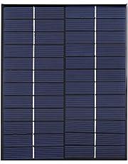 Ladieshow Zonnepaneel, 5.2W 12V Polykristallijn Silicium Zonnepaneel Module voor DIY Acculader Voeding