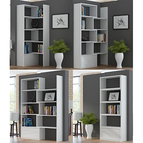 BanburyModernFurniture BMF PACO EXTENDABLE BOOKSHELF HOME OFFICE STUDY SYSTEM IN 5 COLOURS