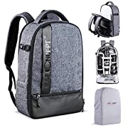 K&F Concept Camera Backpack, Professional Large Capacity Waterproof Photography Bag with Rain Cover for DSLR Cameras,15″ Laptop Bag Nylon Backpack for Camera