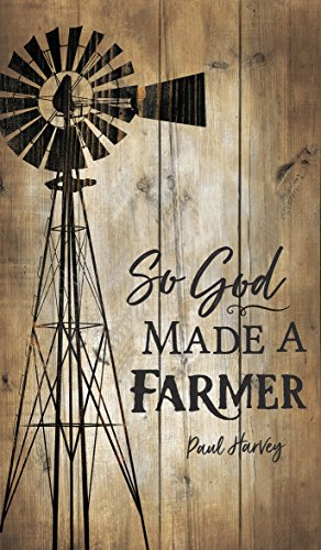 P Graham Dunn So God Made a Farmer Distressed 14 x 24 Wood Pallet Wall Plaque Sign