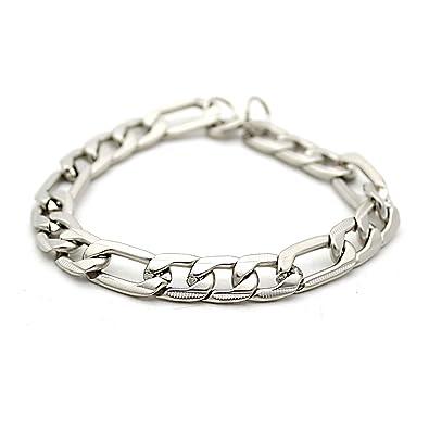 a01cf8bbc5ef8 Indi Creation Mens Link Chain Style 10 MM Bracelet for Mens & Boys  Stainless Steel Bracelet