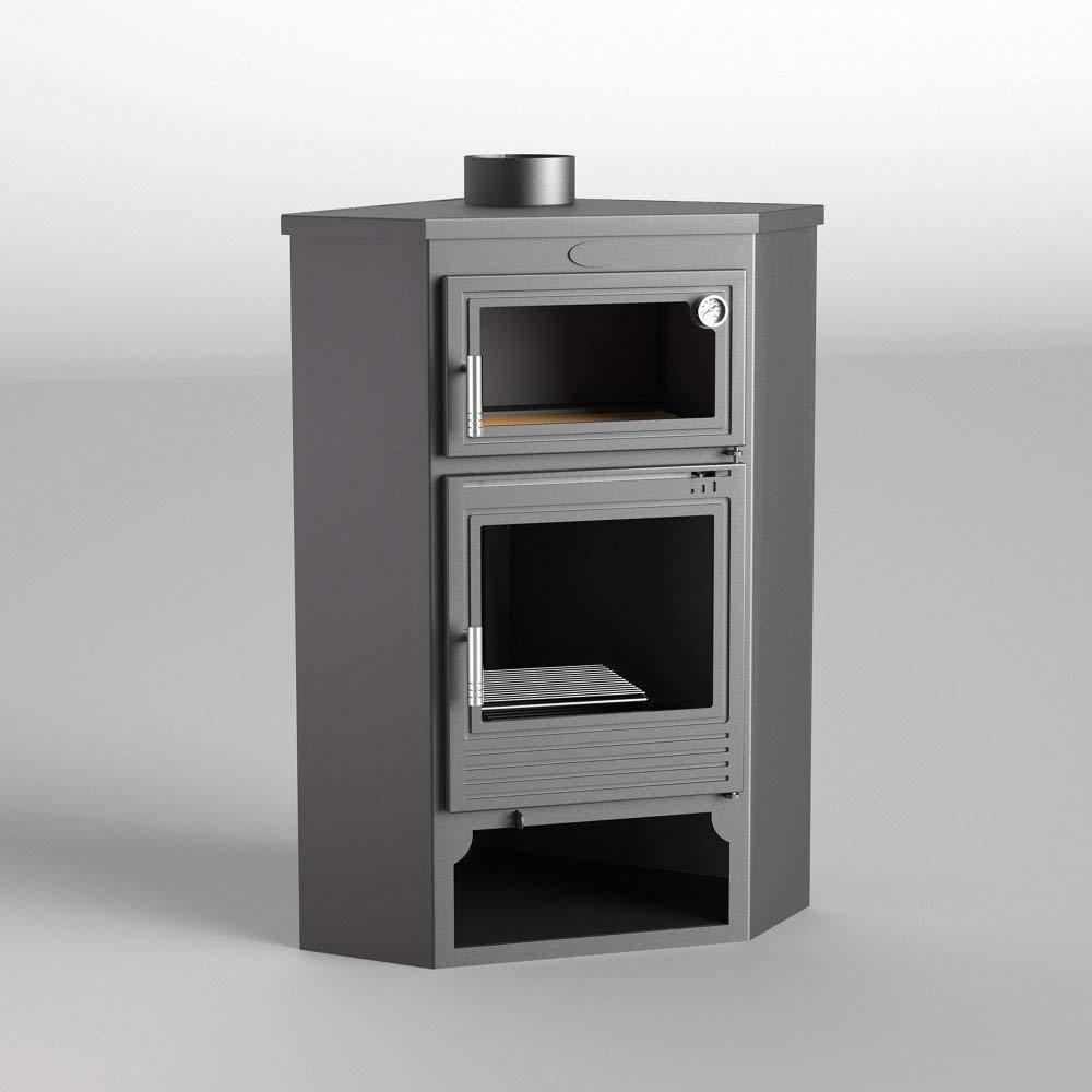 Fm estufa de leña modelo M-105 H con Horno: Amazon.es ...