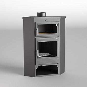 Fm estufa de leña modelo M-105 H con Horno: Amazon.es: Bricolaje y ...