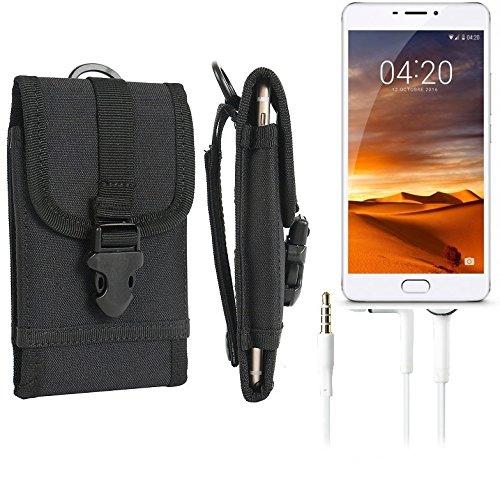 bolsa del cinturón / funda para Meizu M3 Max, negro + Auriculares   caja del teléfono cubierta protectora bolso - K-S-Trade (TM)