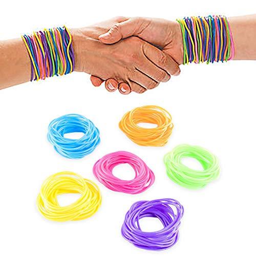 The Dreidel Company Neon Jelly Bracelets Rainbow (12 Dz) Assorted Birthday Party Favors Gifts (144 Pieces) -