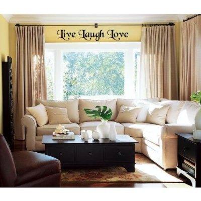 Wheeler3Designs Live Laugh Love 32x 8 vinyl decal wall ()