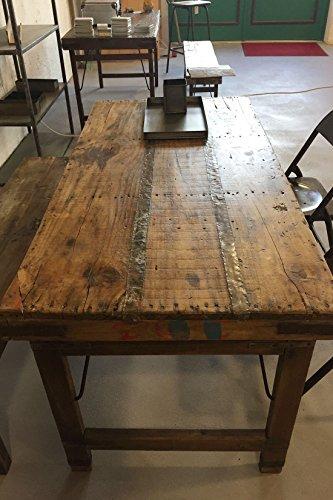 Vintage Esstisch aus Holz klappbar Shabby-Chic: Amazon.de: Küche ...