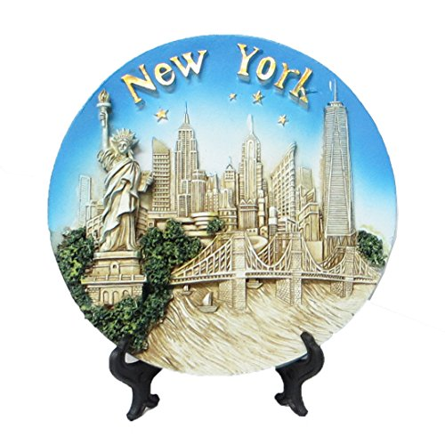 (Lisa NY New York Souvenir 3D Polyresin Plate 6 Inches Diameter (Medium 6 Inches))