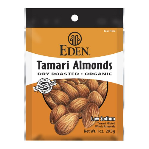 Eden Tamari Almonds, Dry Roasted, Organic Pocket Snacks, 1 Ounce (Pack of (Organic Roasted Soy Sauce)