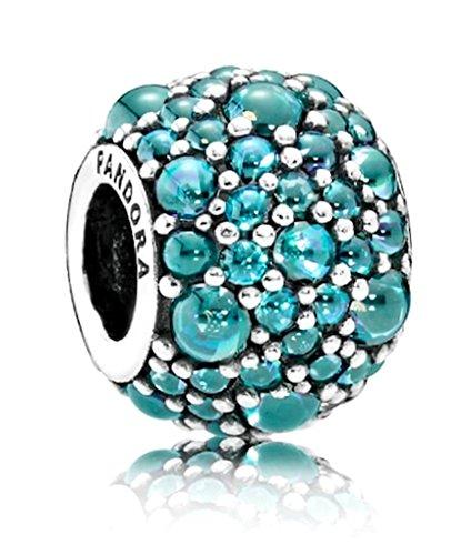 Pandora 791755mcz Shimmering Droplet Teal Charm Droplet Charm