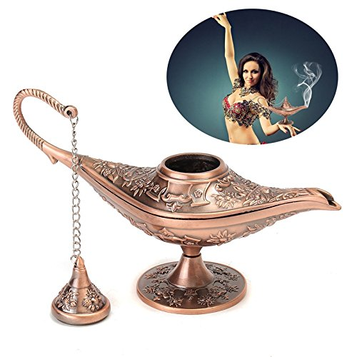 Teapot Genie Lamp - Raza 1pc Christmas Gifts Vintage Wishing Aladdin Lamp Collectable Rare Fairy Tale Magic Lamps Tea Pot Genie Light Home Decoration