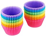 Popowbe Reusable Silicone Baking Cups (Pack of 24)