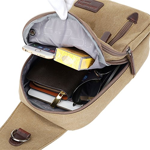 Men's Men's Men's Canvas Coffee Coffee Chest Chest Bag Bag Canvas Xqr1OX