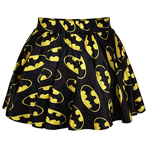 Cartoon Batman Pleated Mini Skirt for Girls One -