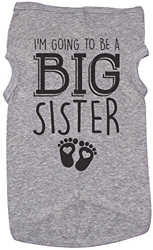 Big Sister Shirt for Dogs/I'm Going to BE A Big Sister/Puppy Tshirt/Girls (XL) (Going To Be A Big Sister Dog Shirt)