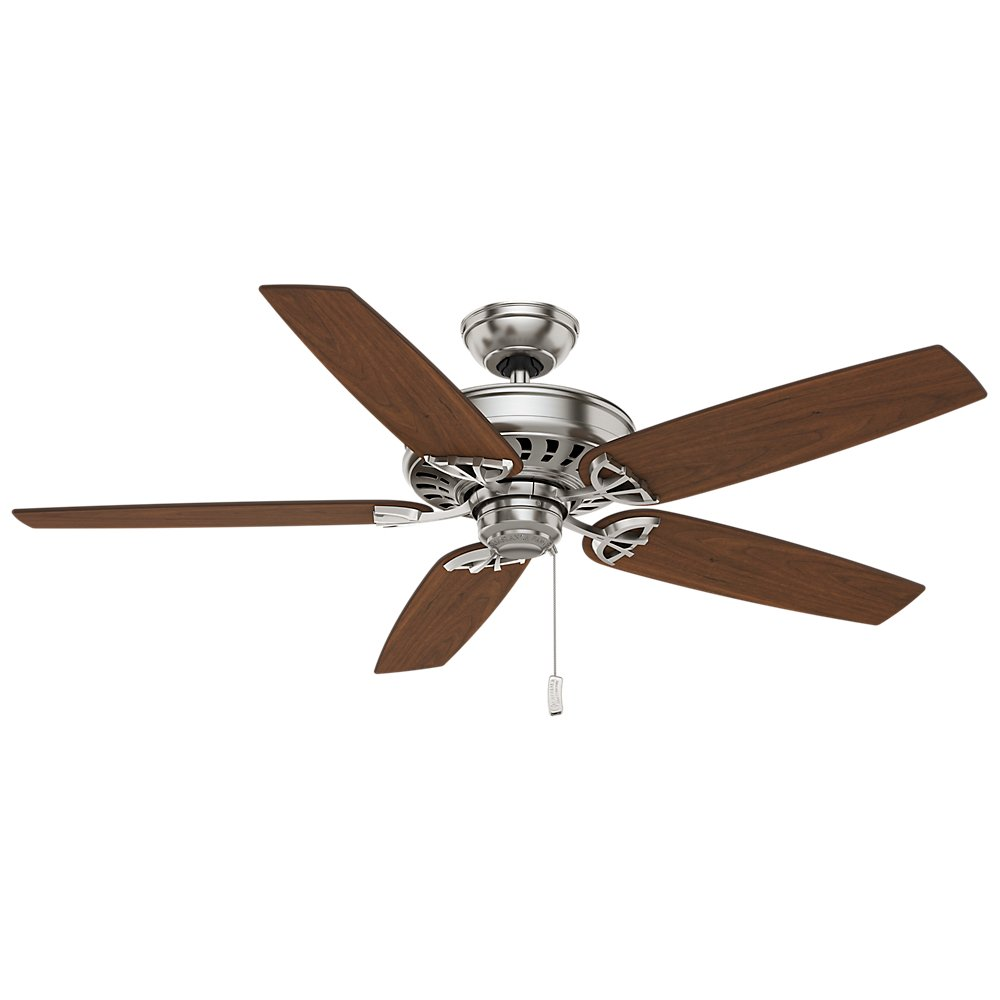 Casablanca 54023 Concentra Gallery 54-Inch 5-Blade Single Light Ceiling Fan, Brushed Nickel with Walnut/Burnt Walnut Blades and Cased White Glass Bowl Light by Casablanca (Image #3)