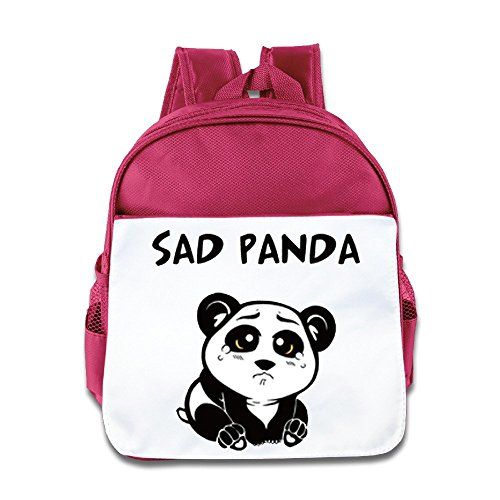 - Hello-Robott Sad Panda School Bag Backpack Pink