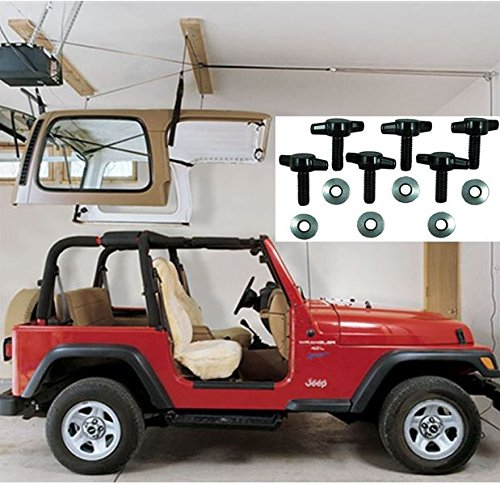 Jeep Hardtop Storage Harken Hoist Jeep Lift with BONUS 6 T Knobs for Quick Hardtop Removal | Safe for One Person Operation | Lifts Evenly with 6:1 Mechanical Advantage | Organize Your Garage by Harken Hoister