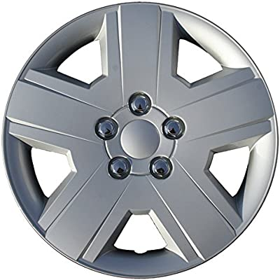 Hubcaps 16 inch Wheel Covers - (Set of 4) Hub Caps for 16in Wheels Rim Cover - Car Accessories Chrome Hubcap Best for 16inch Cars Standard Steel Rims - Snap ...