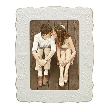 Lenox French Perle White 5x7 Frame