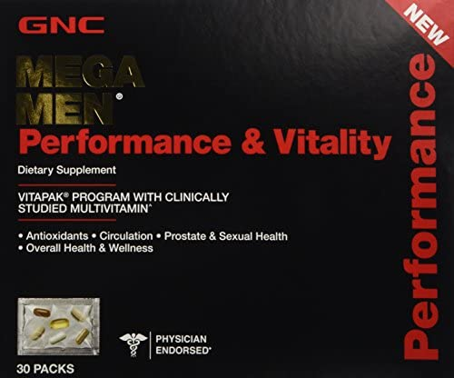 GNC Mega Men Performance Vitality Vitapak Program 30 Paks – New