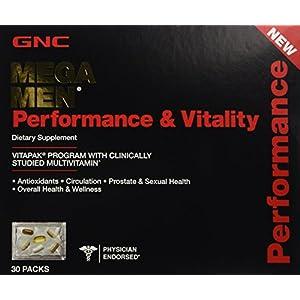 GNC Mega Men Performance & Vitality Vitapak Program 30 Paks – New