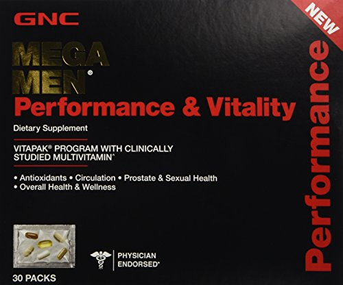 (GNC Mega Men Performance & Vitality Vitapak Program 30 Paks - New)