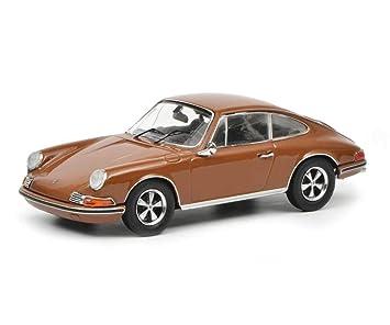 Schuco Dickie Porsche 911 S, marrón 1: 43