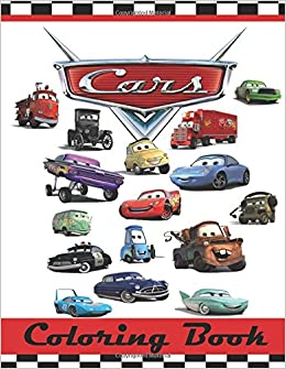 Cars Colouring Book This 80 Page Childrens Has Images Of Lightning McQueen Tow Mater Doc Hudson Sally Carrera Fillmore Sarge