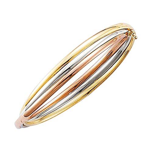 SF Bijoux - Bracelet rigide 3 or