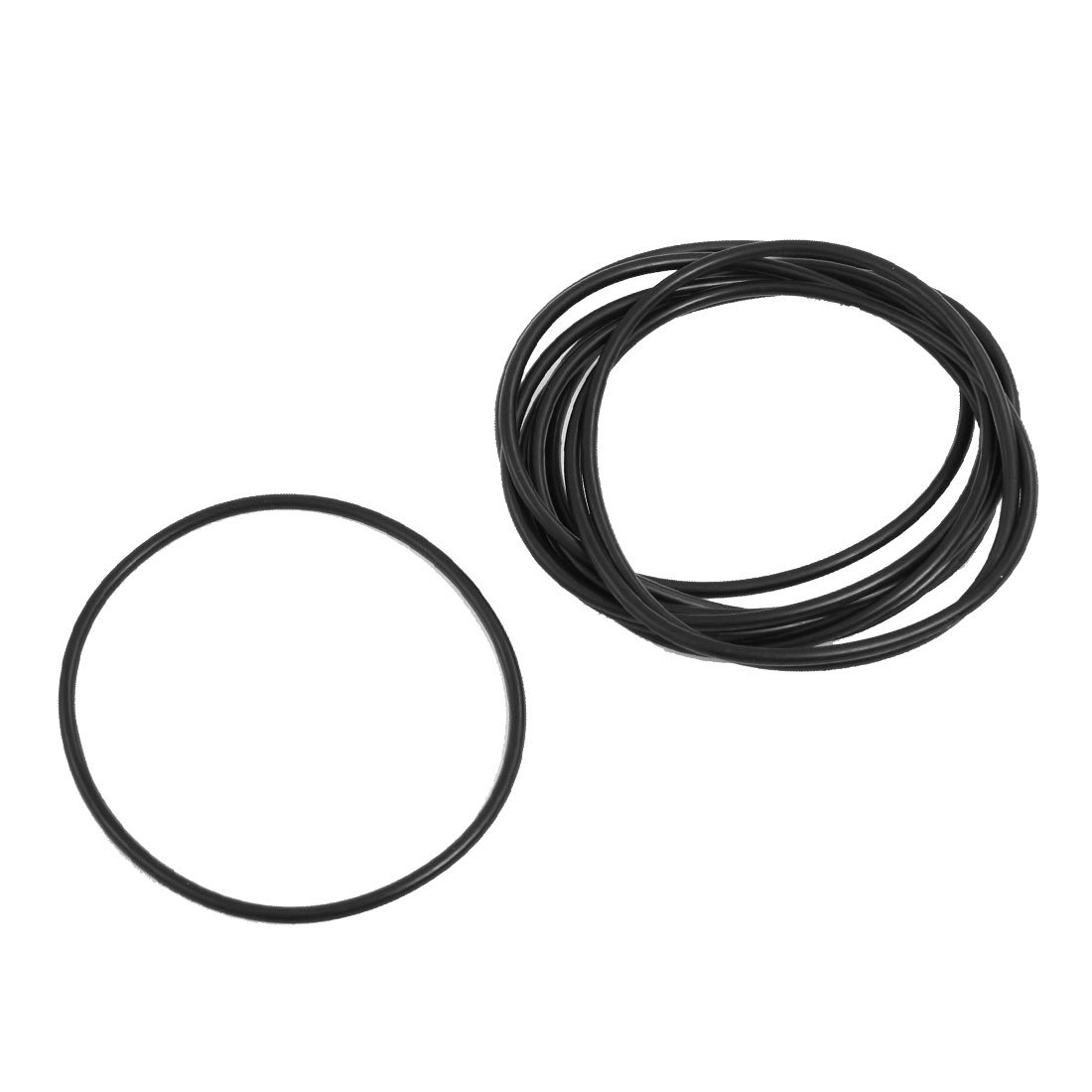 Rot sourcingmap/® 10 mm x 3 mm-Silikon O Ring Oil Dichtscheiben /Ösen 10 St/ück de